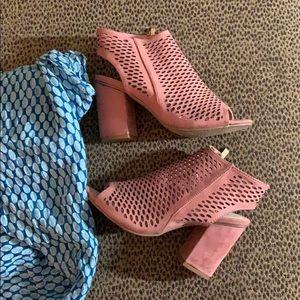 New pinkish sandal booties